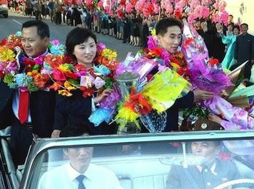 Северная Корея празднует победу в Париже (Видео)