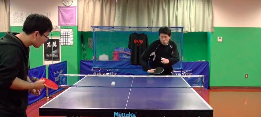 видео настольный теннис ма линь